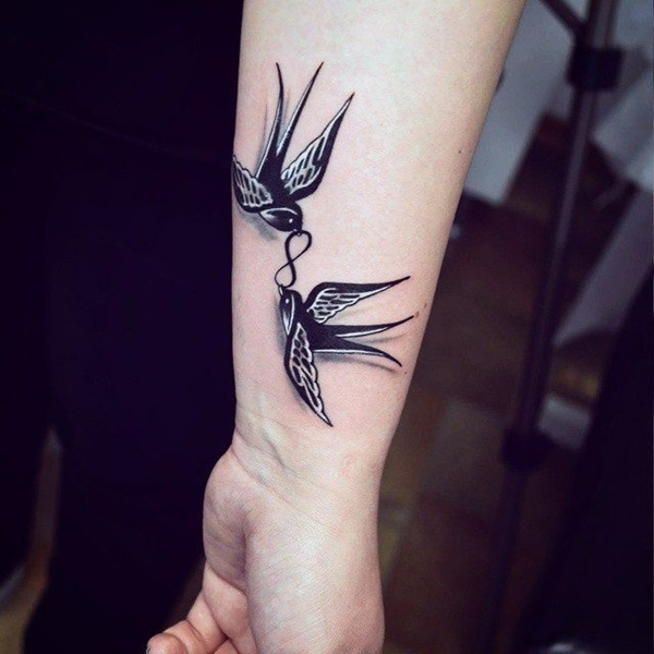 Cute Sparrow Tattoo Designs For Men