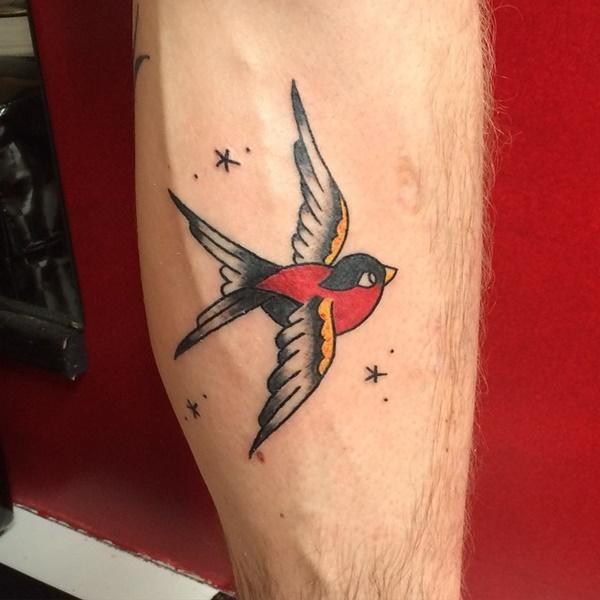 Cute Sparrow Tattoo Designs For Men