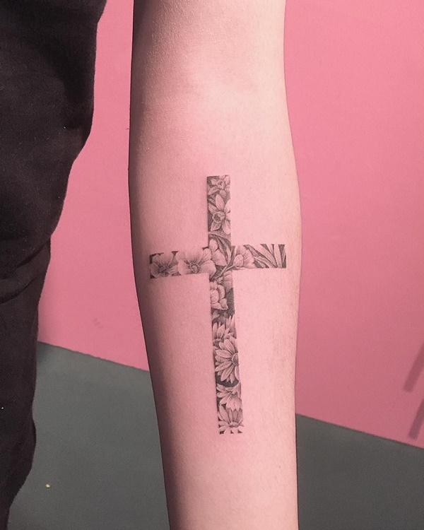 Unique Cross Tattoos Designs & Ideas For Women With Meaning