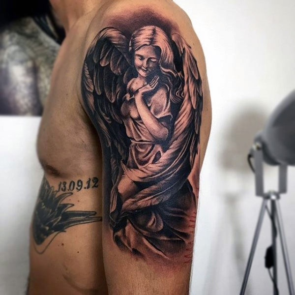 36 Beautiful Guardian Angel Tattoo Designs Buzz Hippy