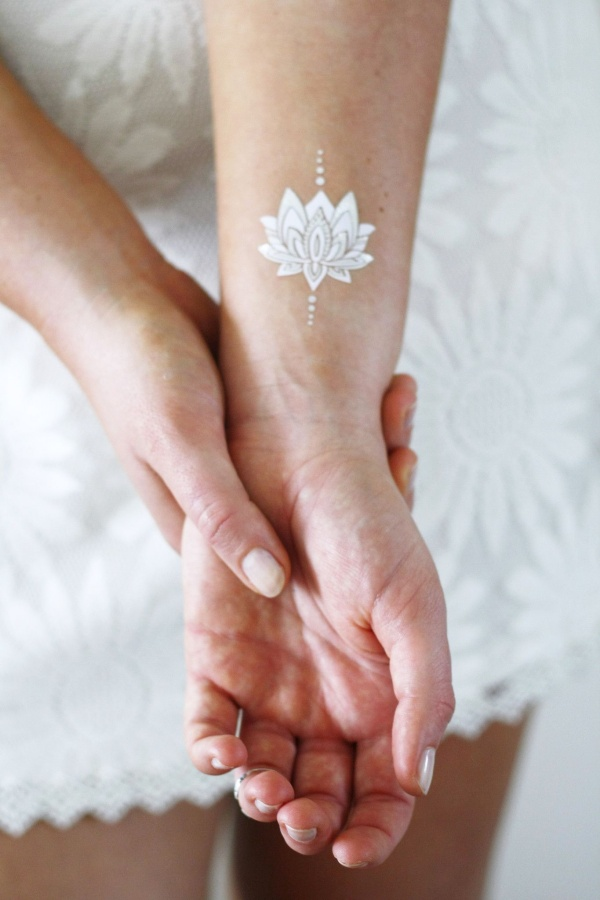 Cool White Ink Tattoo Designs And Ideas