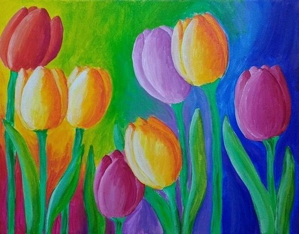 42 Simple And Easy Flower Paintings For Beginners Buzz Hippy