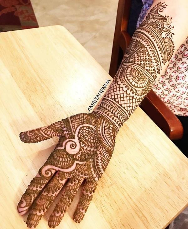arabic mehndi designs for right hand