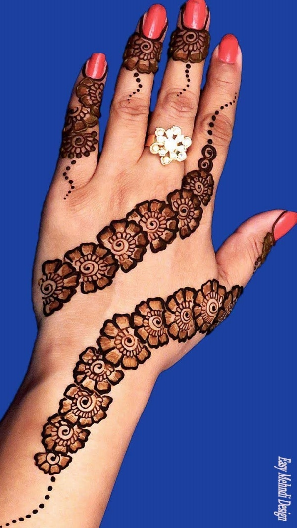 Simple Arabic Mehndi Designs For Left Hand