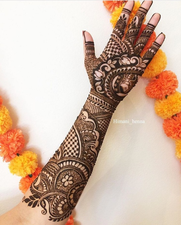arabic mehndi design left hand