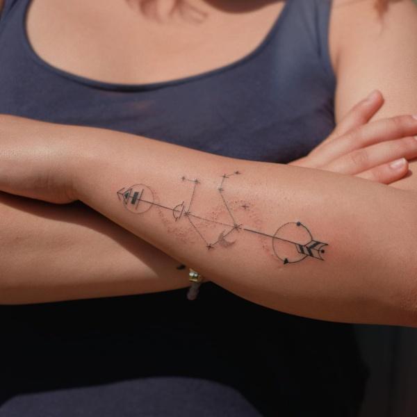 Amazing Libra Constellation Tattoo Designs