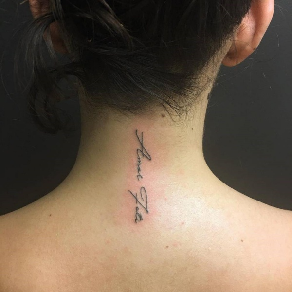 Beautiful Amor Fati Tattoo Designs and Meaning